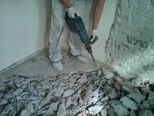 Granieten Vloer Badkamer : Het verwijderen van granieten vloer